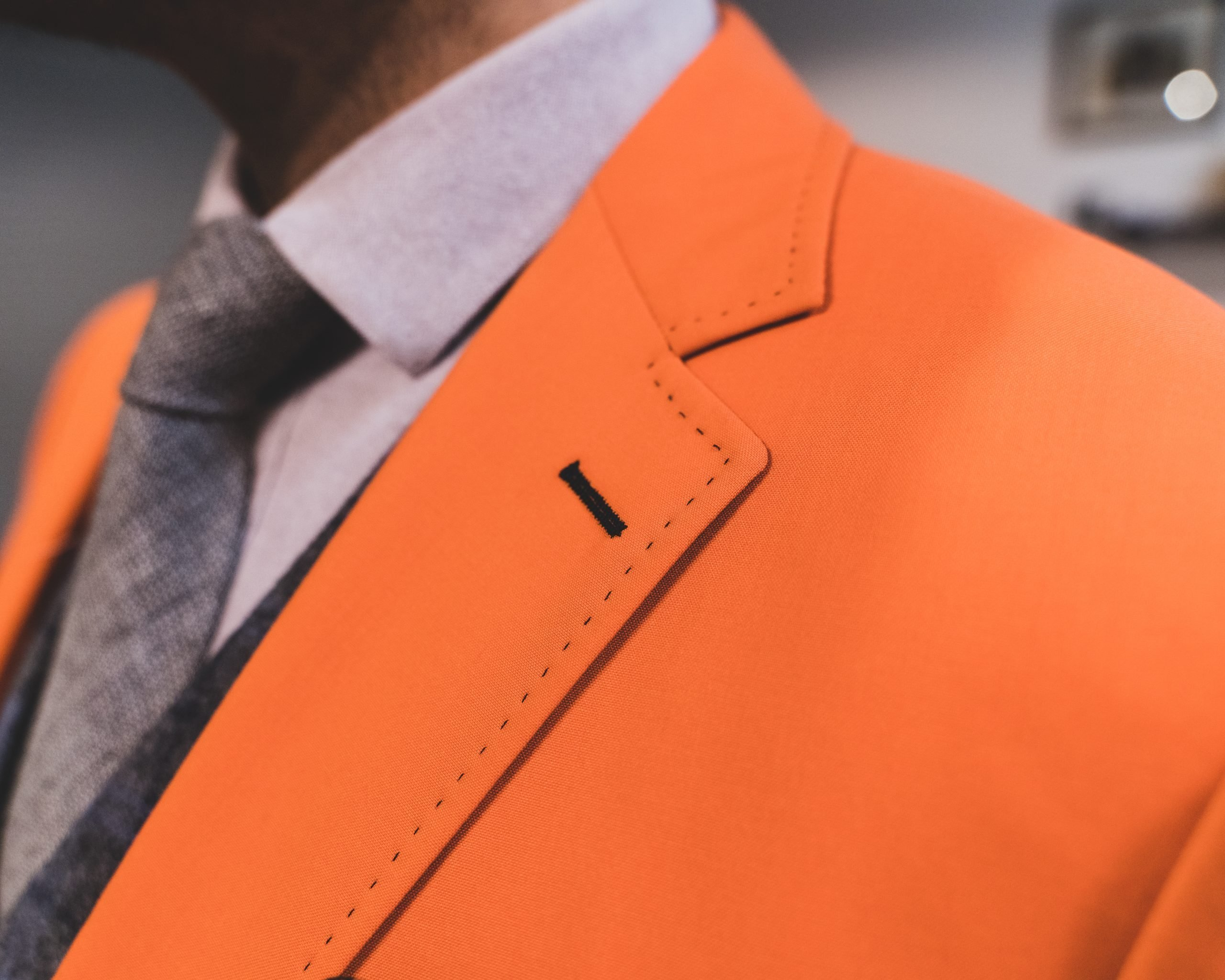Custom Suits for Men Orange