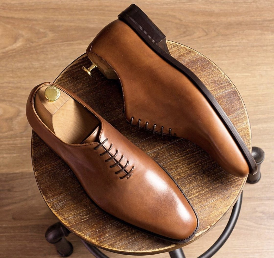 Designing Custom Leather Beige Shoes