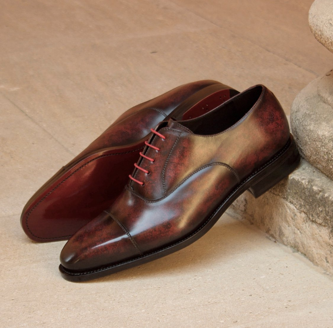 Designing Brown Custom Leather Groomsmen Shoes