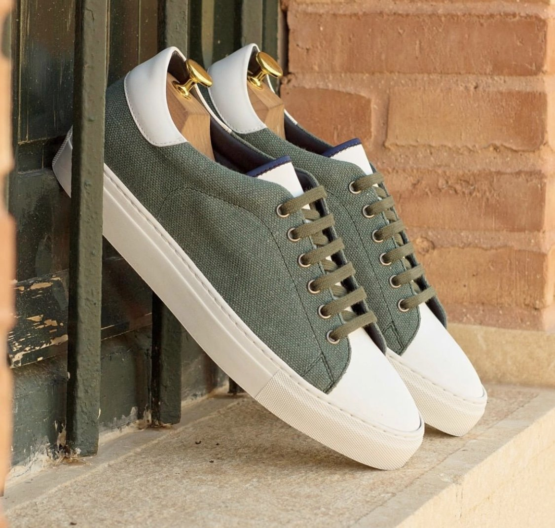 Designing Olive Green Custom Casual Shoes for Groomsmen party